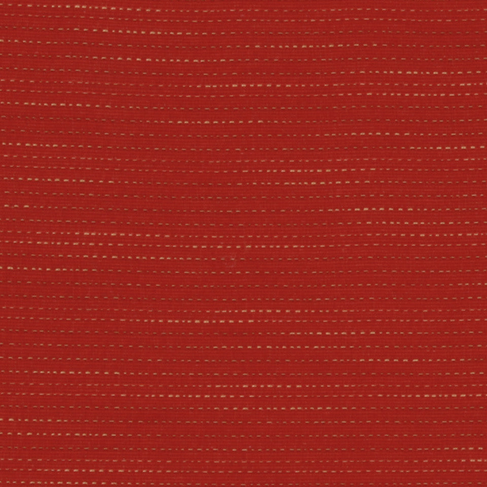 LACQUER RED Faneuil Stripe Fabric - Lacquer Red