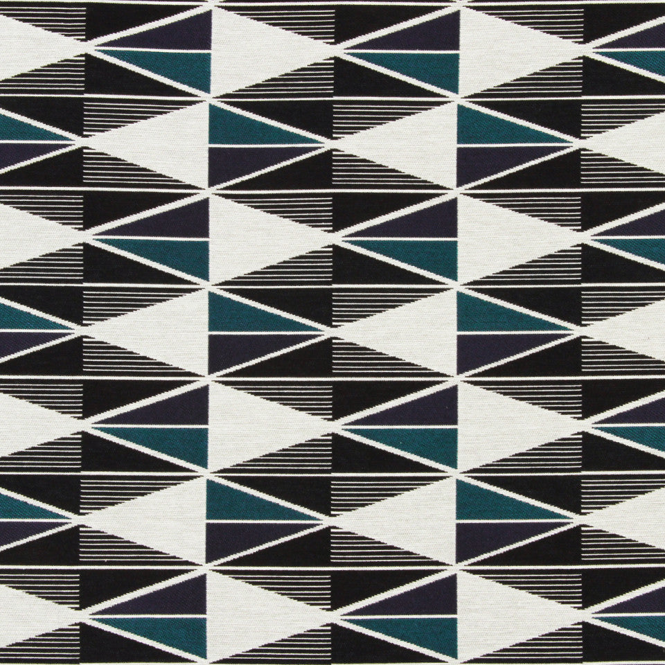 DWELLSTUDIO DECORATIVE MODERN Origami Fabric - Admiral