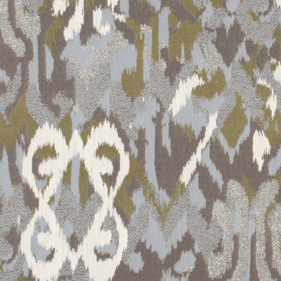 Ikat Mingle Fabric - Chambray