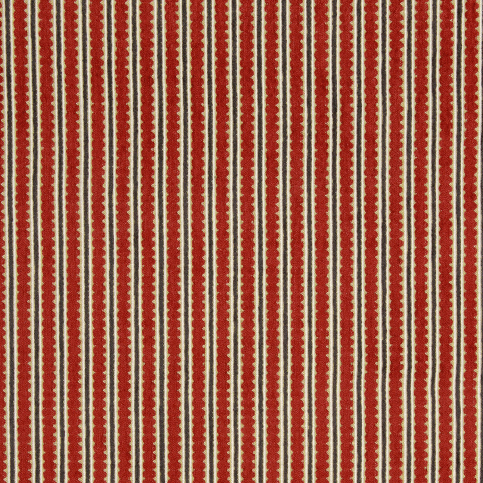LACQUER RED Fitzrovia Fabric - Lacquer Red