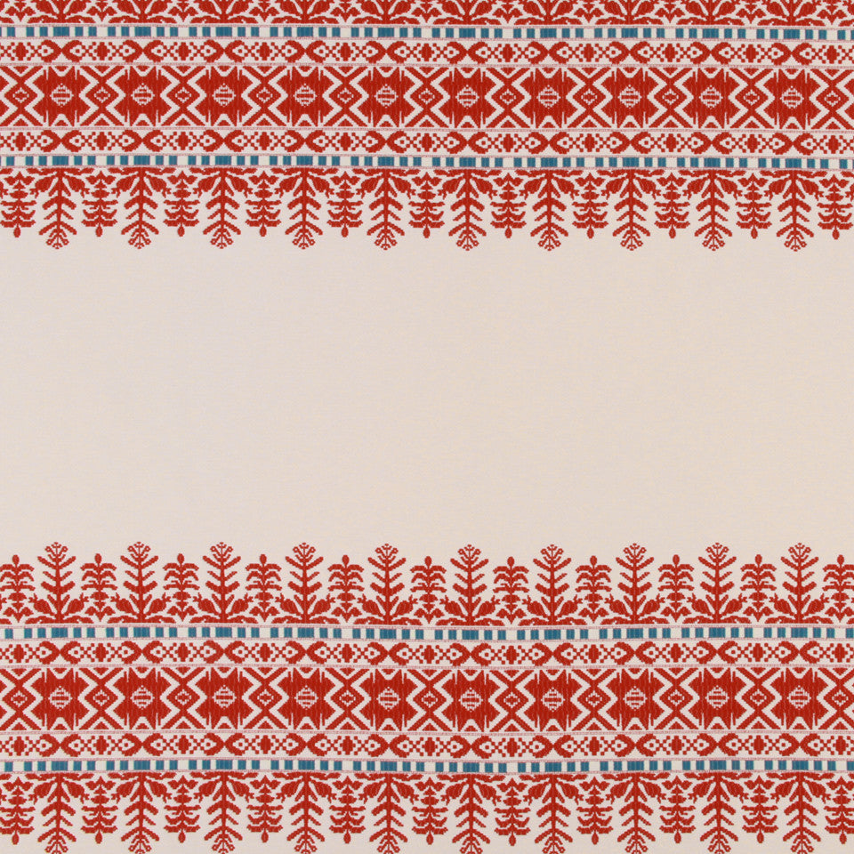 LACQUER RED Aztec City Fabric - Lacquer Red
