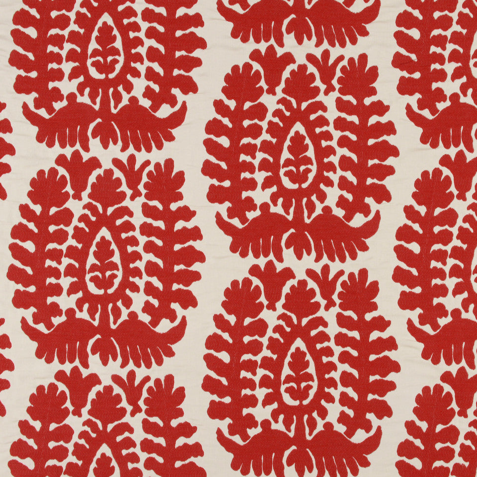 LACQUER RED Ocean City Fabric - Lacquer Red