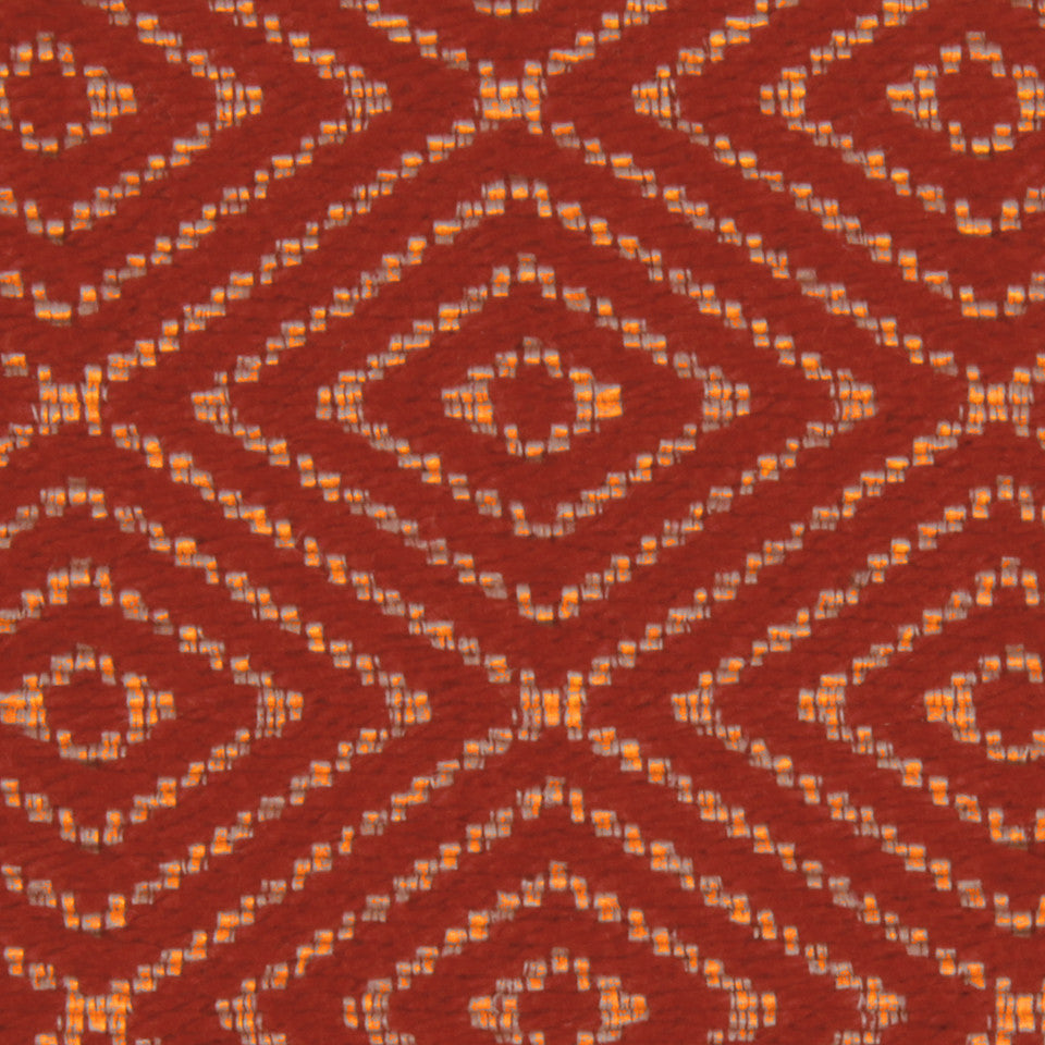 LACQUER RED Raised Geo Fabric - Lacquer Red