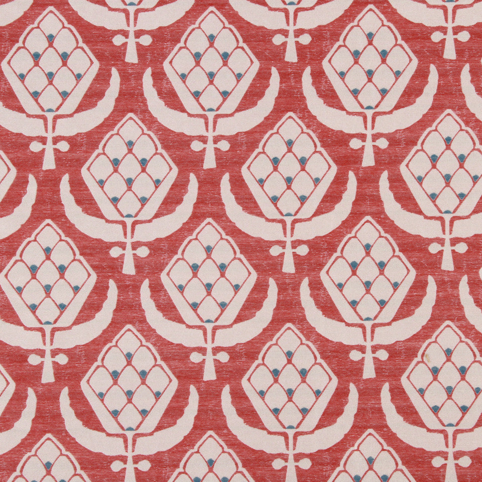 LACQUER RED Perryhill Fabric - Lacquer Red