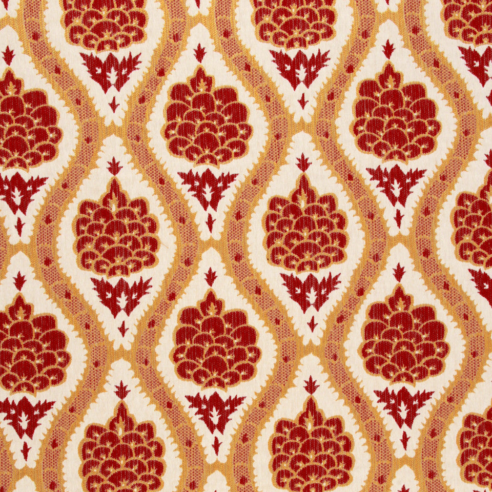 LACQUER RED Sophia Range Fabric - Lacquer Red