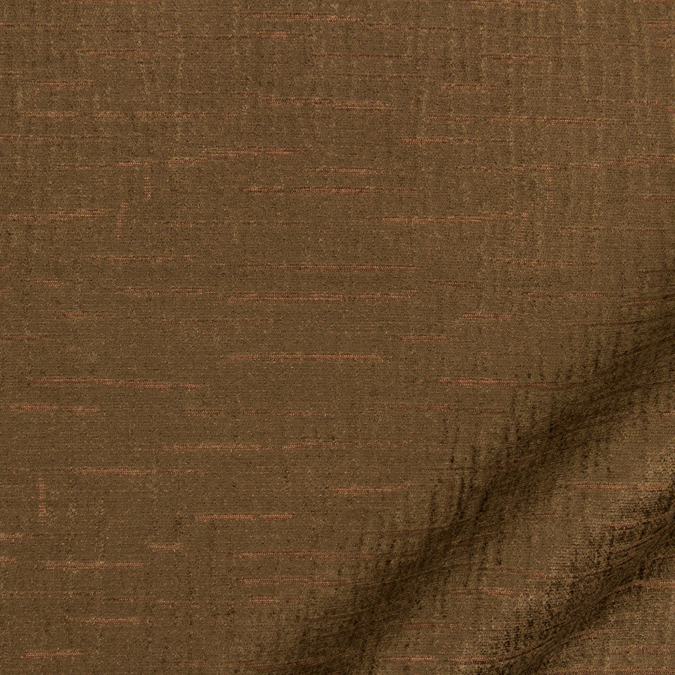 NANO-TEX + DURABLOCK Prince Edward Fabric - Chocolate