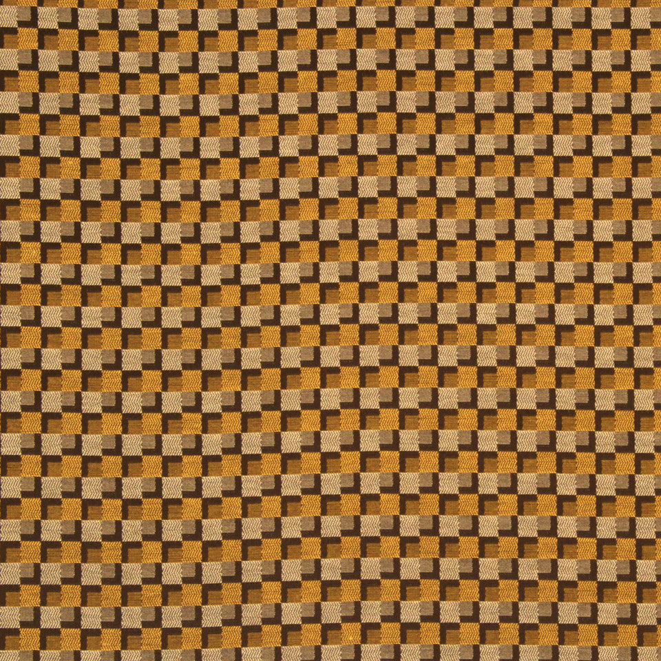 NANO-TEX + DURABLOCK Kendall Square Fabric - Walnut