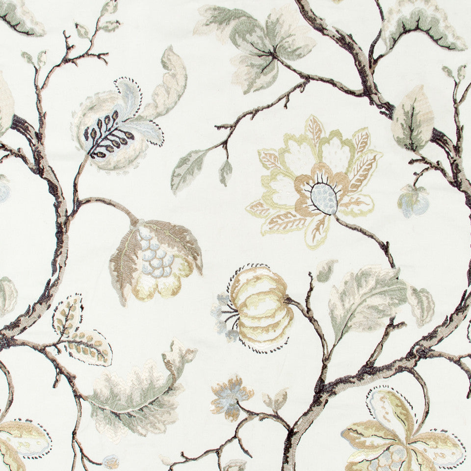 GOLD LEAF Bloom City Fabric - Gold Leaf