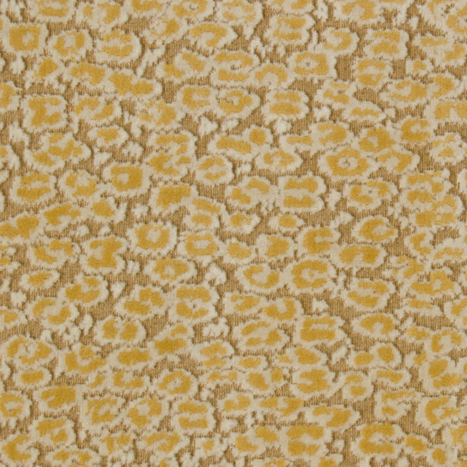 GOLD LEAF Soft Cheetah Fabric - Gold Leaf