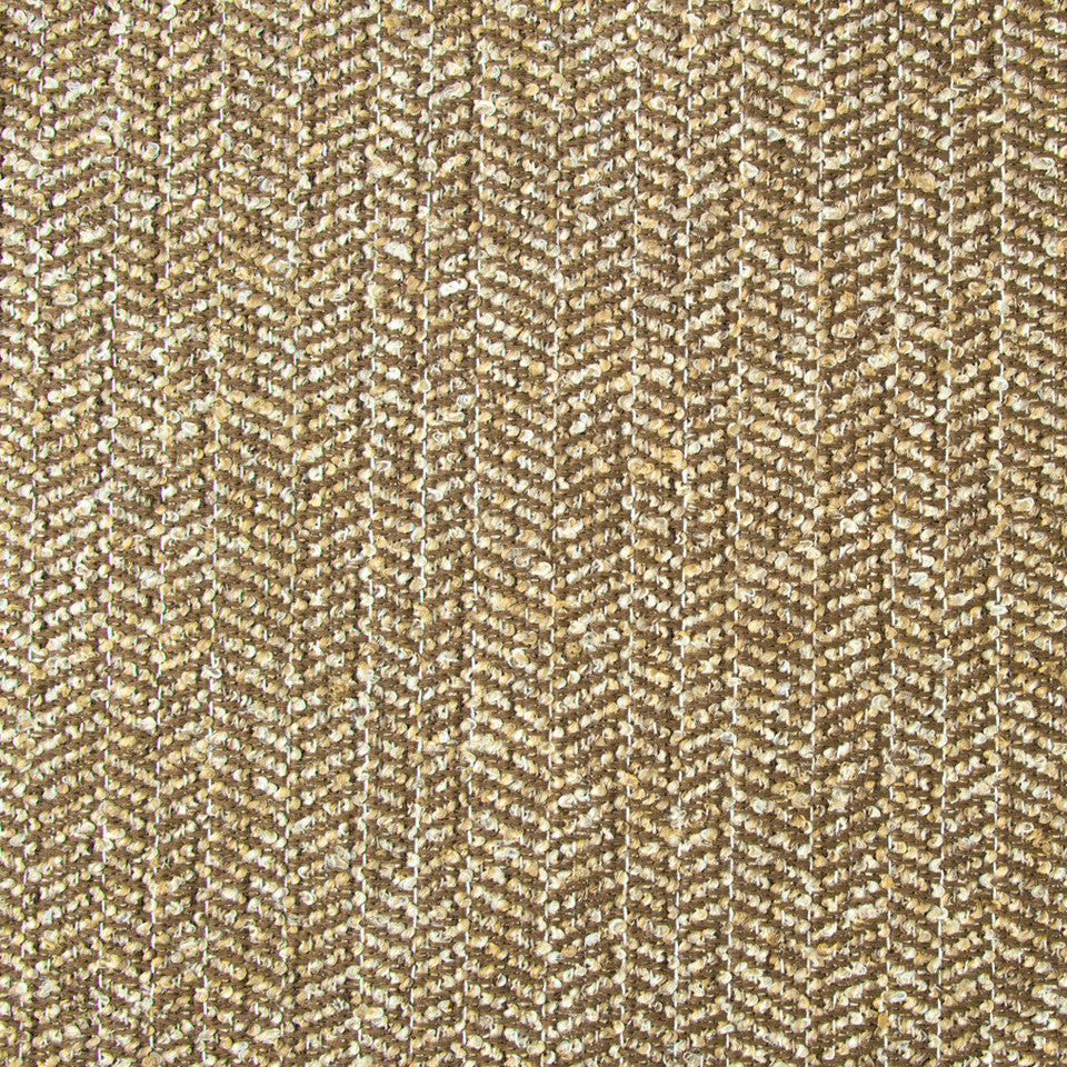 NANO-TEX + DURABLOCK Chevron Boucle Fabric - Walnut