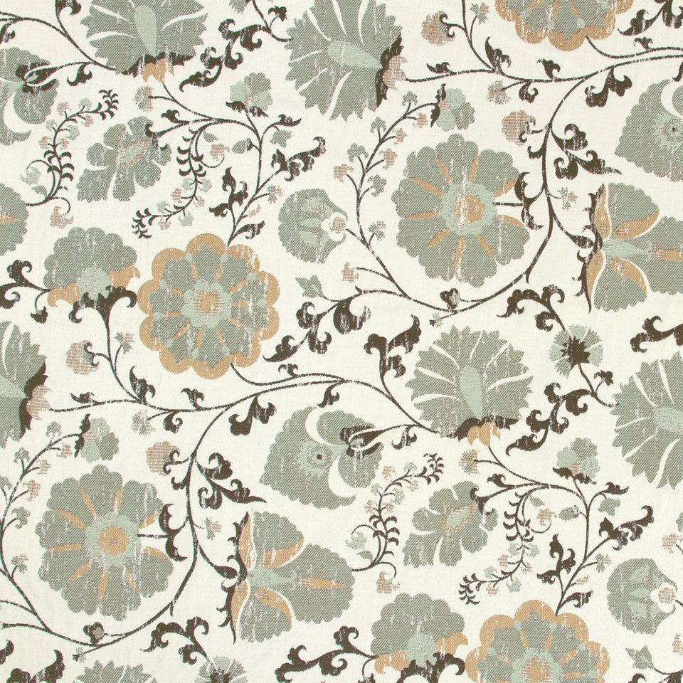 DEW Faded Floral Fabric - Dew