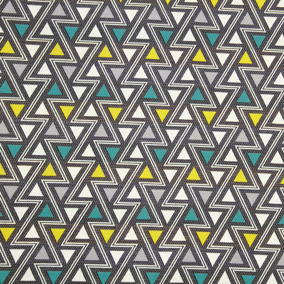 ZINC Triangle Shift Fabric - Zinc