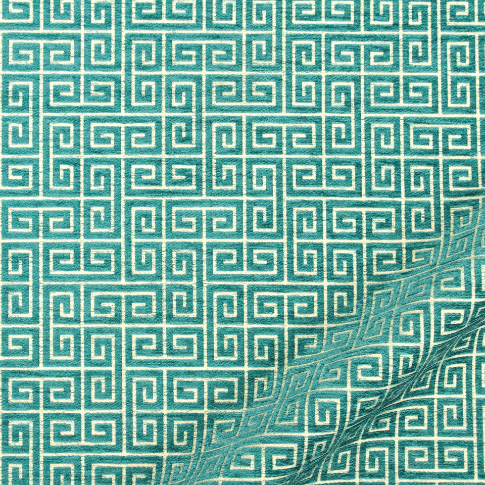 NANO-TEX + DURABLOCK Soft Keys Fabric - Turquoise