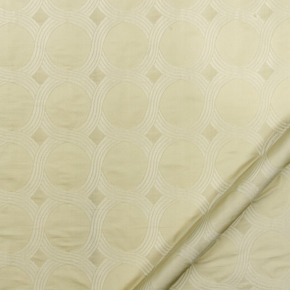 SILK JACQUARDS & EMBROIDERIES I Tabi Matelasse Fabric - Travertine