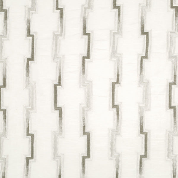 Silk Jacquards And Embroideries IV Hashi Fret Fabric - Silver