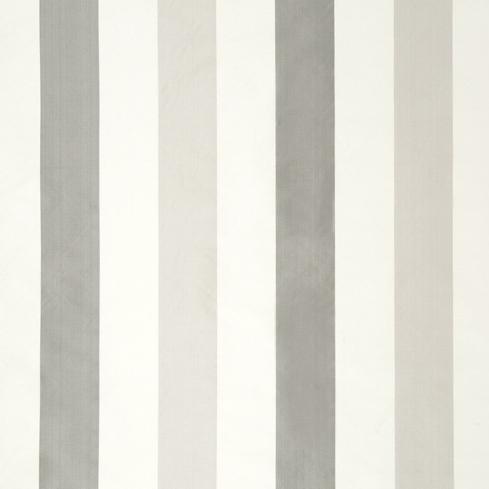 SILK STRIPES & PLAIDS Sakura Stripe Fabric - Silver