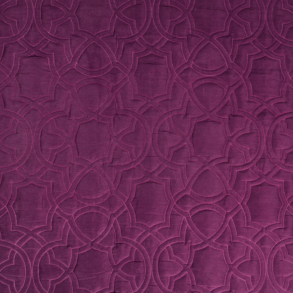 SILK JACQUARDS & EMBROIDERIES II Garlyn Fabric - Magenta