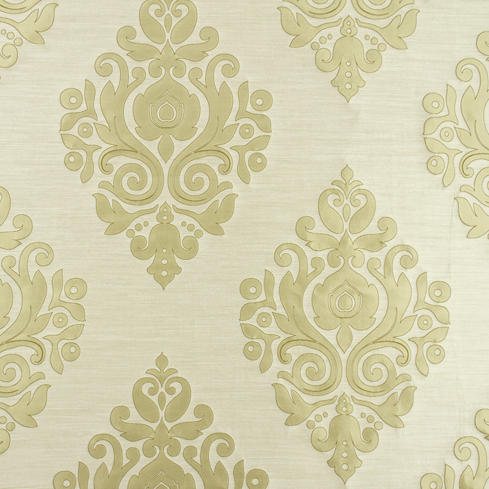 SILK JACQUARDS & EMBROIDERIES I Nippon Frame Fabric - Travertine
