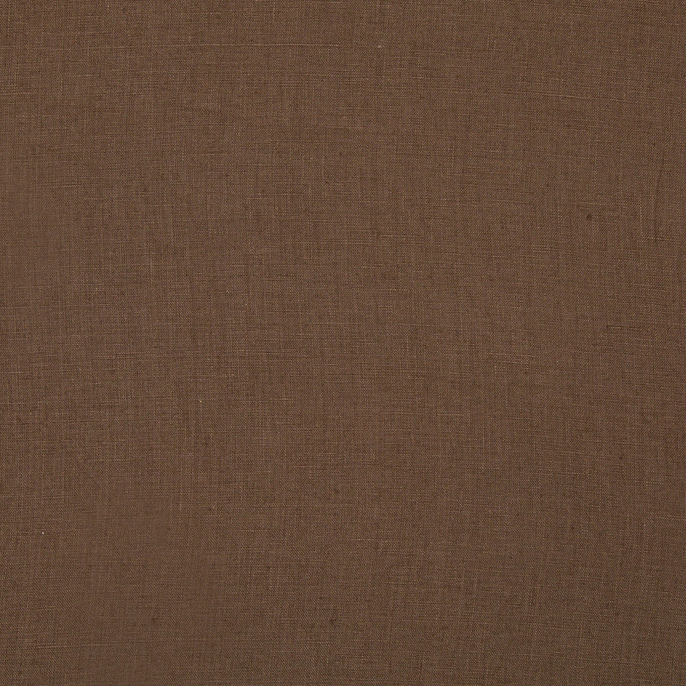 DRAPEABLE LINEN Milan Solid Fabric - Chocolate