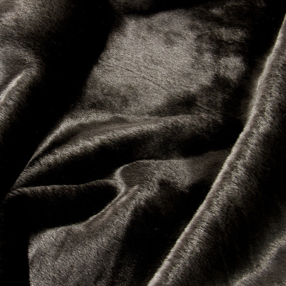 LAVISH FAUX FURS Soft Mink Fabric - Black
