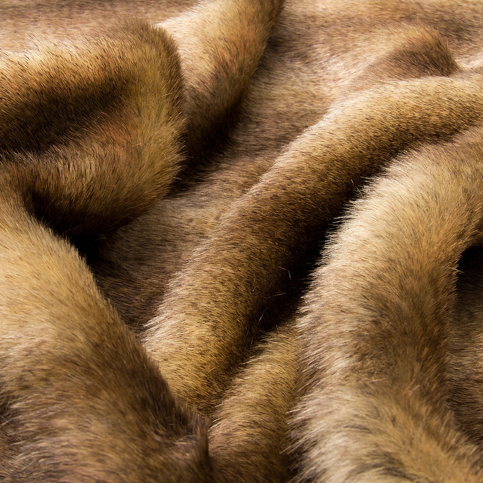 LAVISH FAUX FURS Chinny Fur Fabric - Bronze