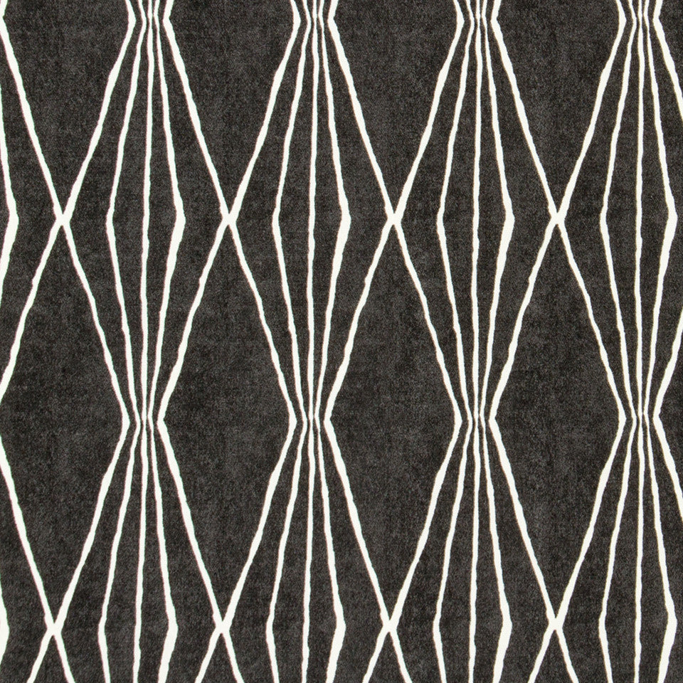 Handcut Shapes Fabric - Charcoal