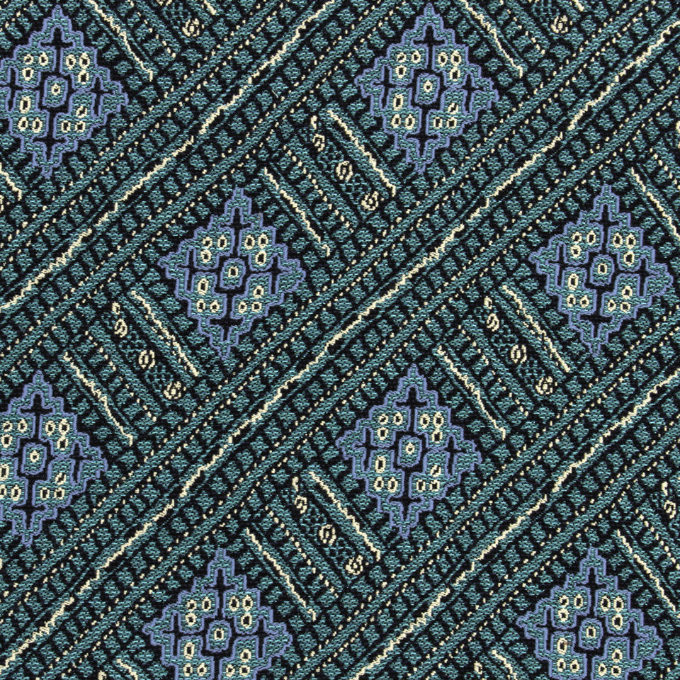 FESTIVAL OUTDOOR Armor Lattice Fabric - Lagoon Blue