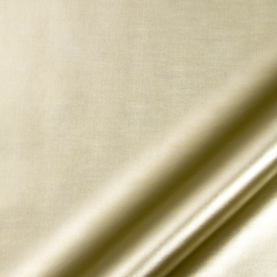 LUXE FAUX LEATHER Cupecoy Fabric - Gold Leaf
