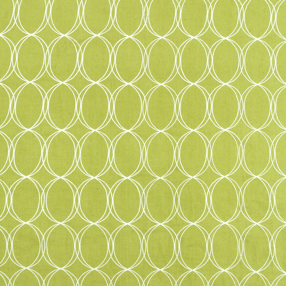 WISTERIA-IRIS-CHARTREUSE Out Of Bounds Fabric - Chartreuse