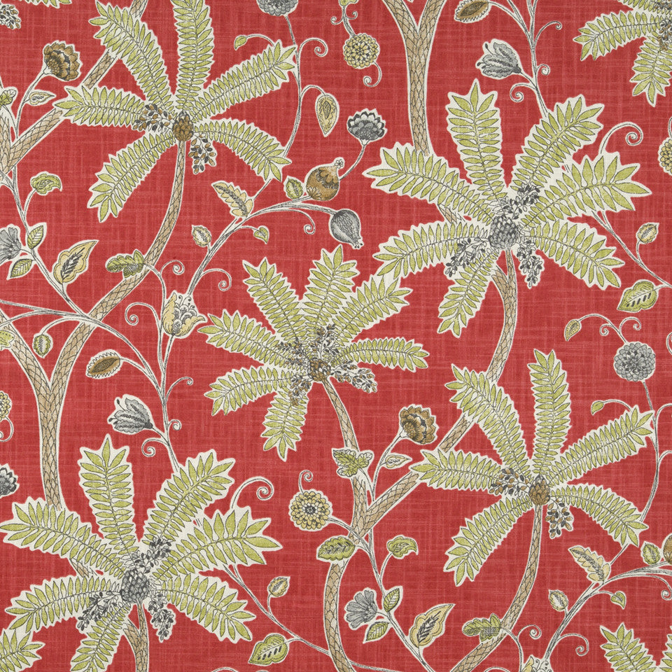 Indienne Ink Fabric - Coral
