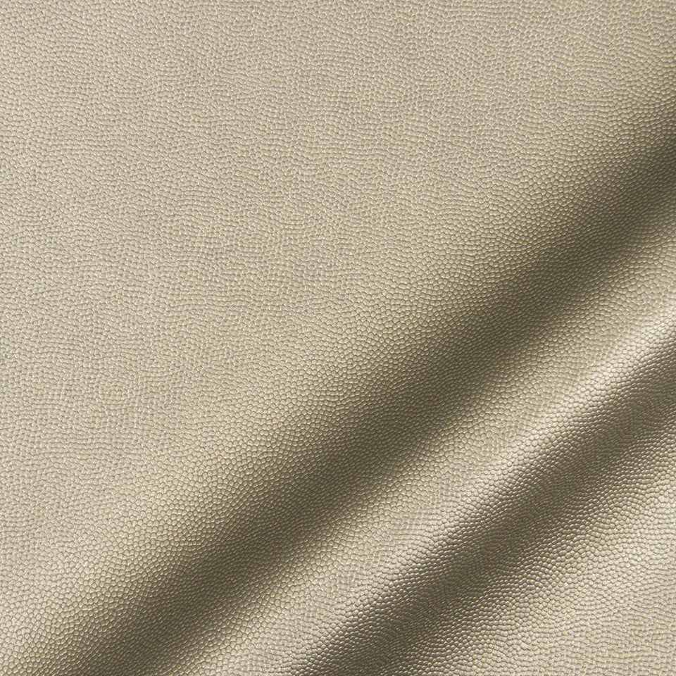 LUXE FAUX LEATHER Pebble Sheen Fabric - Pewter