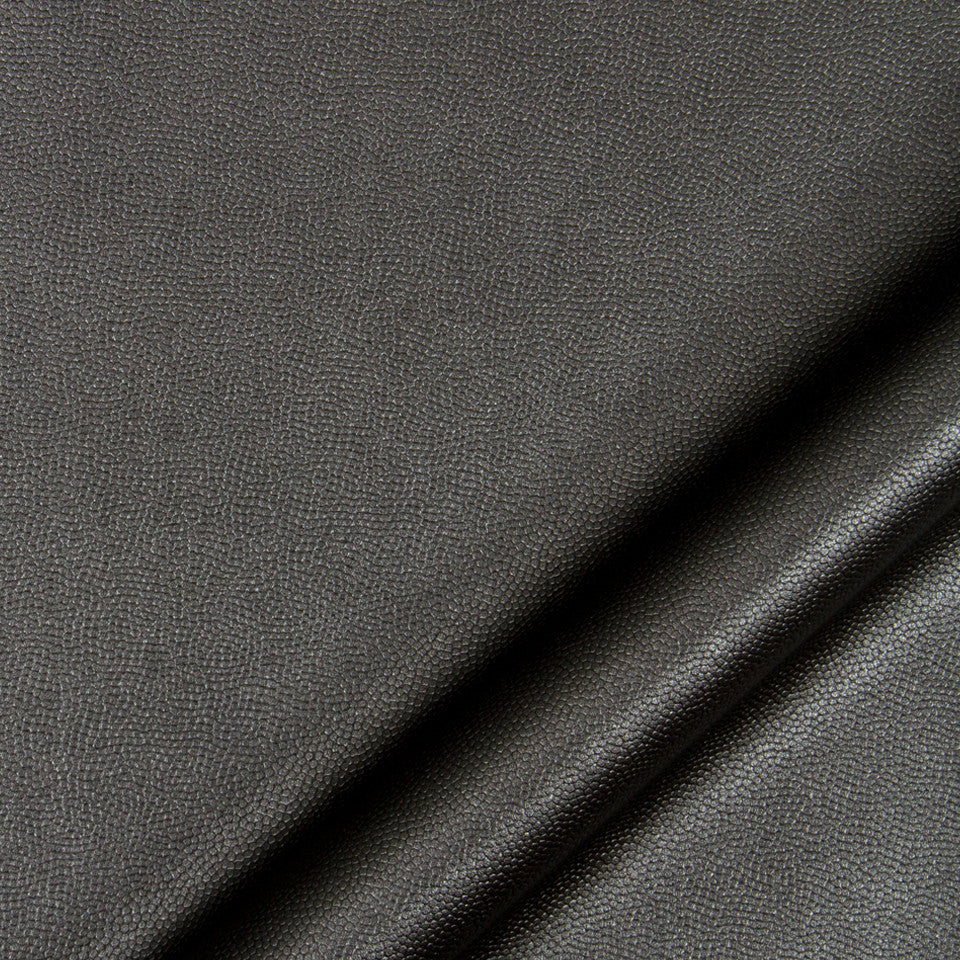 LUXE FAUX LEATHER Pebble Sheen Fabric - Onyx
