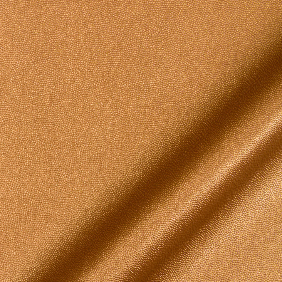 LUXE FAUX LEATHER Pebble Sheen Fabric - Copper