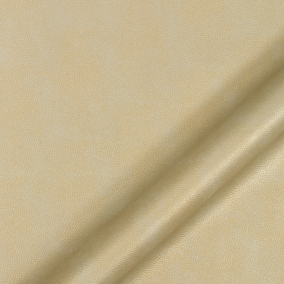 LUXE FAUX LEATHER Pebble Sheen Fabric - Gold Taupe
