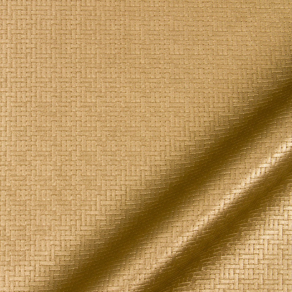 LUXE FAUX LEATHER Maze Matrix Fabric - Bronze