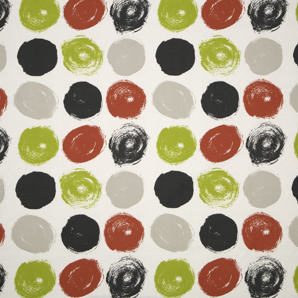 DWELLSTUDIO MODERN ARCHIVE Brushed Dot Fabric - Poppy