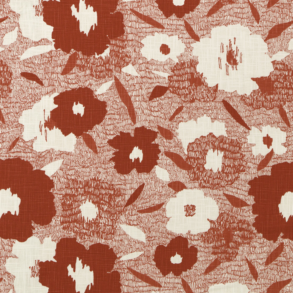 DWELLSTUDIO MODERN ARCHIVE Carys Fabric - Poppy
