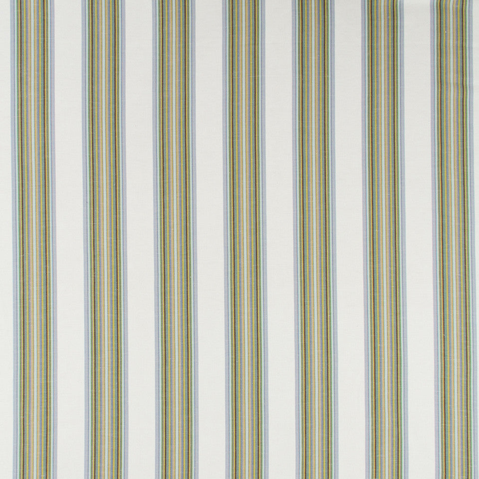Villa Stripe Fabric - Iris