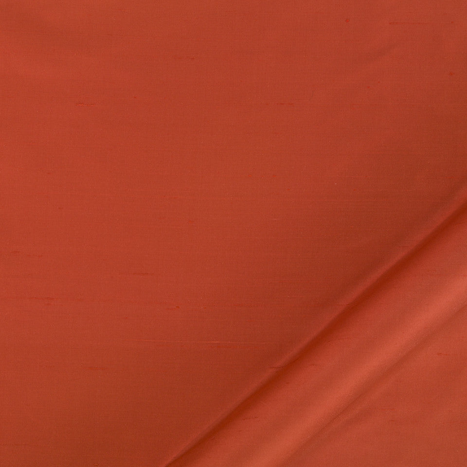 DRAPEABLE SILK Allepey Fabric - Cayenne