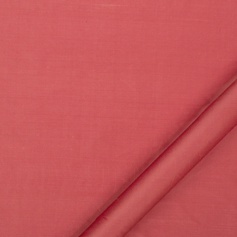 DRAPEABLE SILK Allepey Fabric - Coral