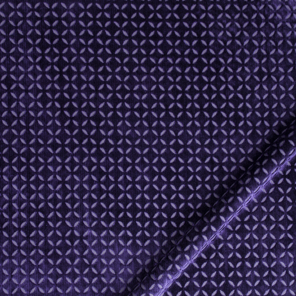MALACHITE-ROYAL PURPLE-SLATE Plush Star Fabric - Royal Purple