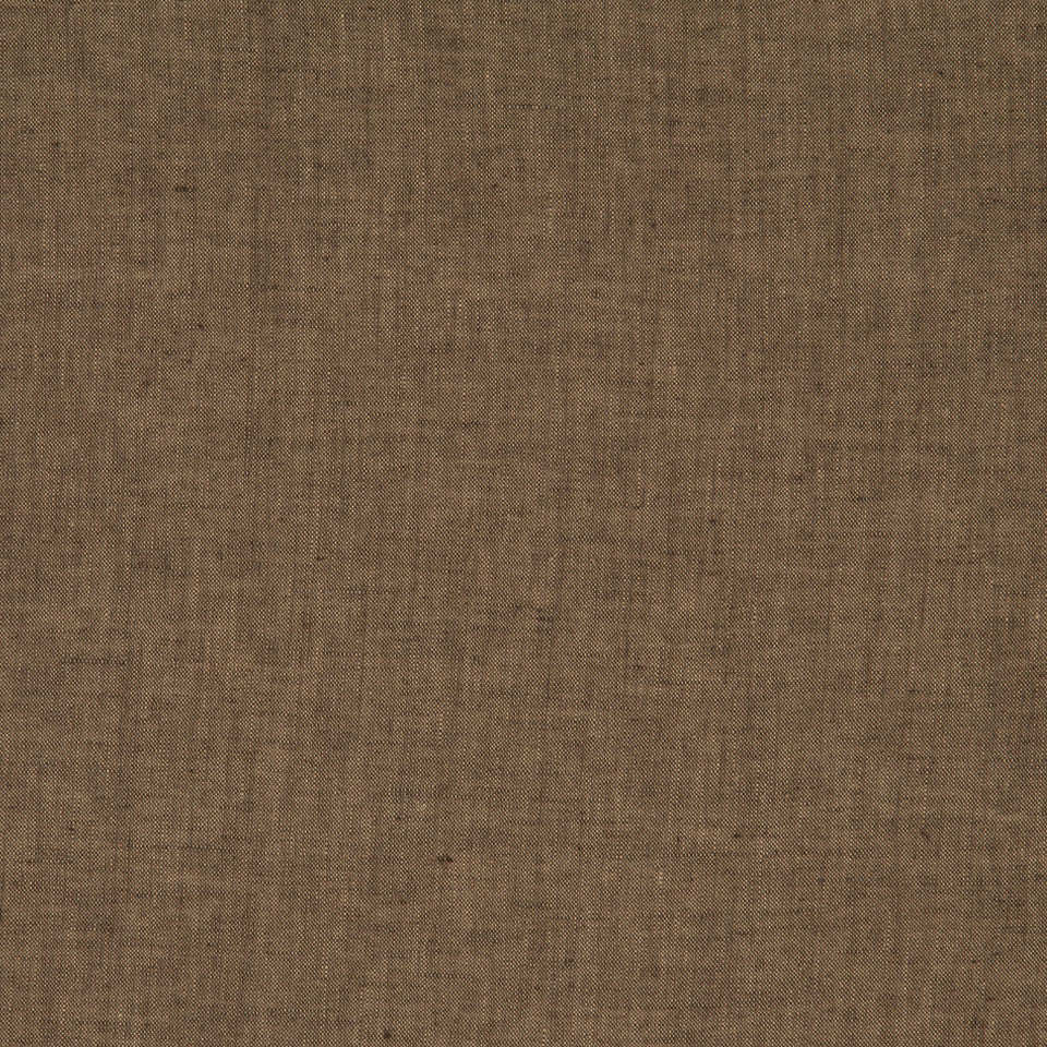 DRAPEABLE LINEN Haileys Path Fabric - Chocolate
