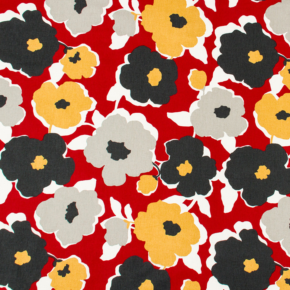 Top Floral Fabric - Red Lacquer