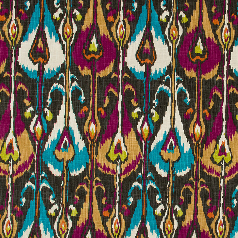 Ikat Bands Fabric - Storm