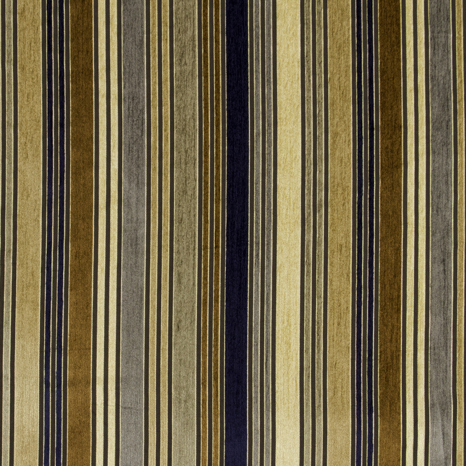 MALACHITE-ROYAL PURPLE-SLATE Lifted Lines Fabric - Camel