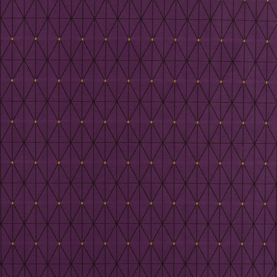 MALACHITE-ROYAL PURPLE-SLATE Grid Frame Fabric - Orchid