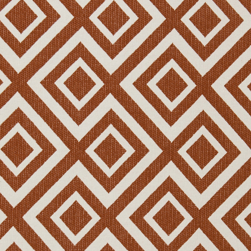 Switchback Fabric - Coral