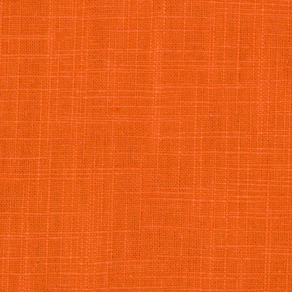 Slubbed Weave Fabric - Orange Crush