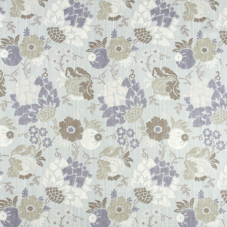 WISTERIA-IRIS-CHARTREUSE Flowerbomb Fabric - Lilac