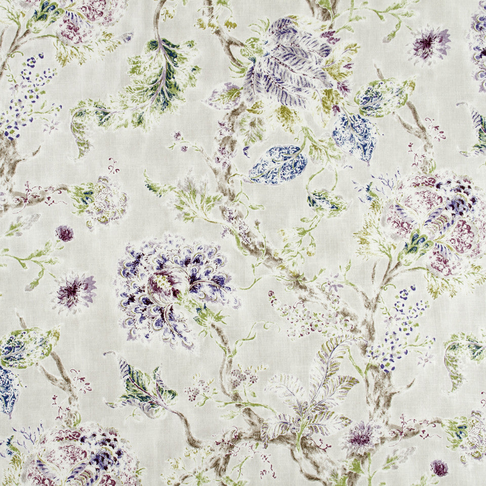 WISTERIA-IRIS-CHARTREUSE Mystic Forest Fabric - Wisteria